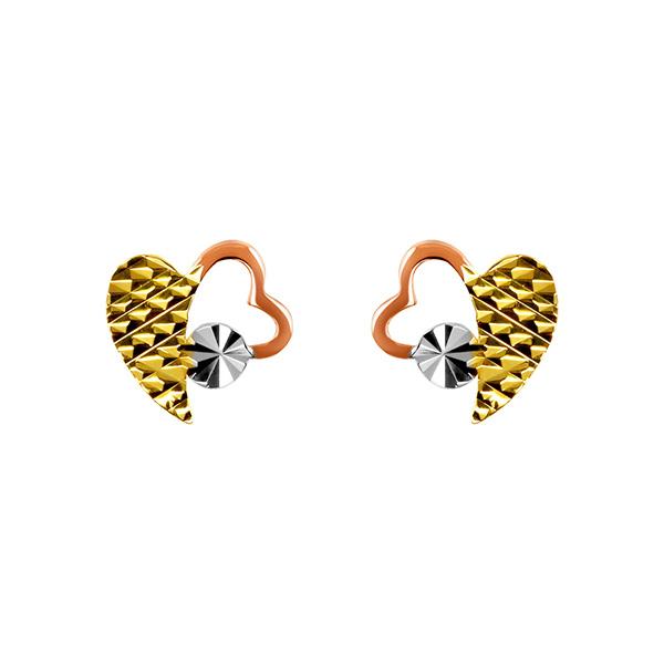 愛心造型K金耳環