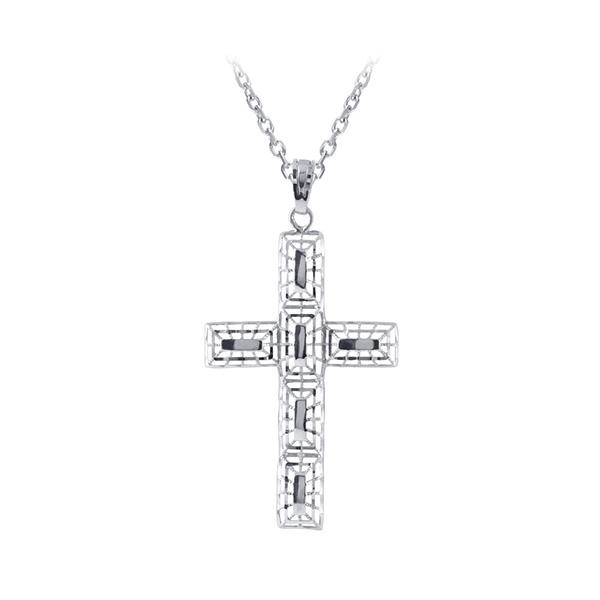 十字簍空白K金墜子
