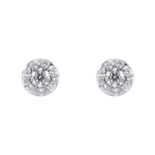 18分鑽石耳環