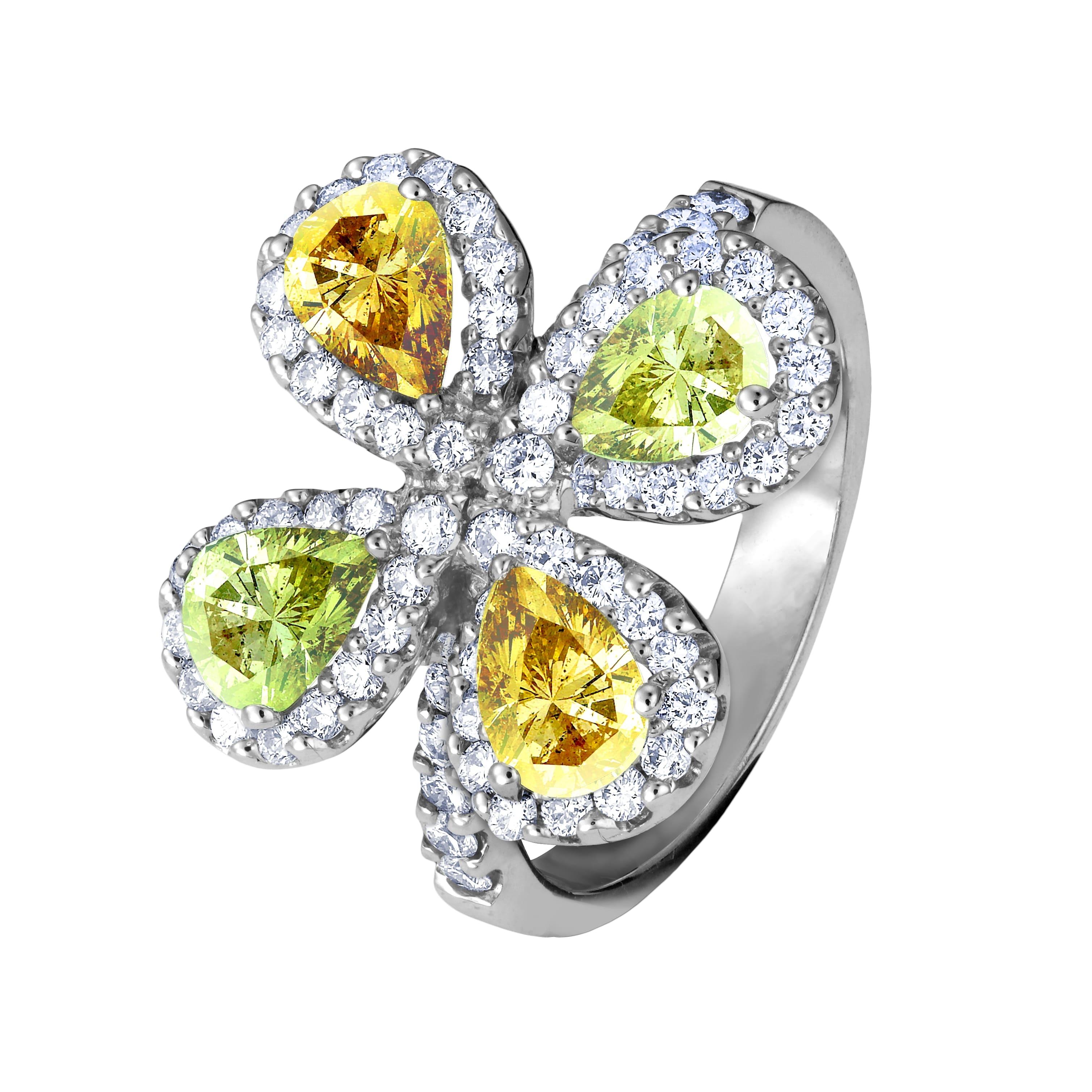 四葉彩鑽造形戒指