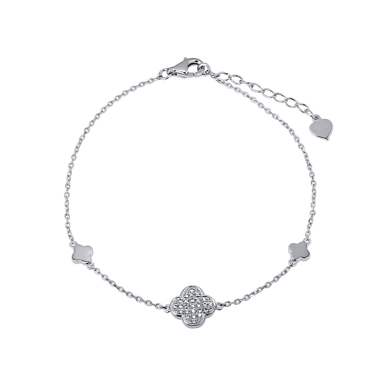 白K金鑽石手鍊