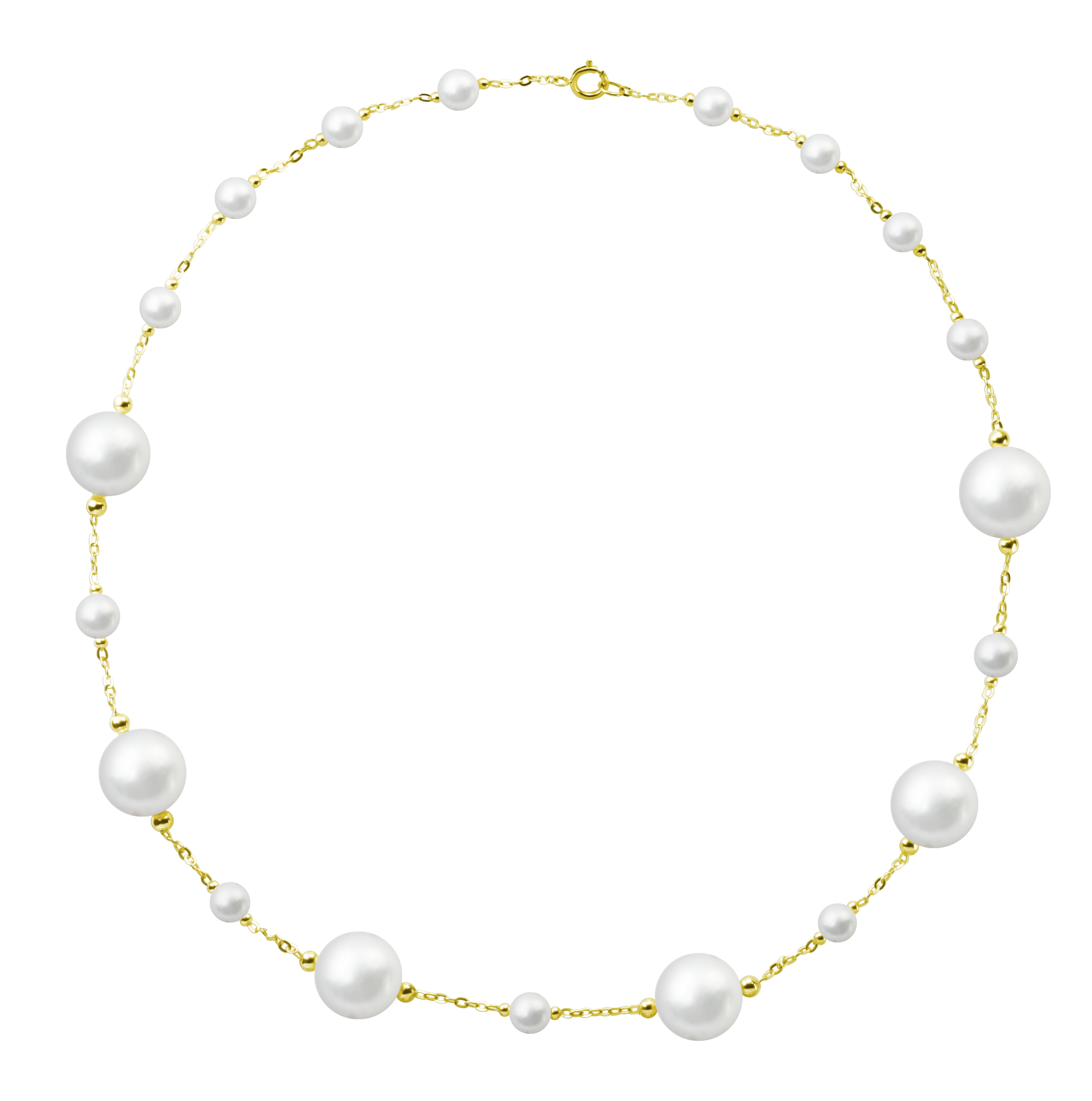 氣質珍珠黃K金項鍊