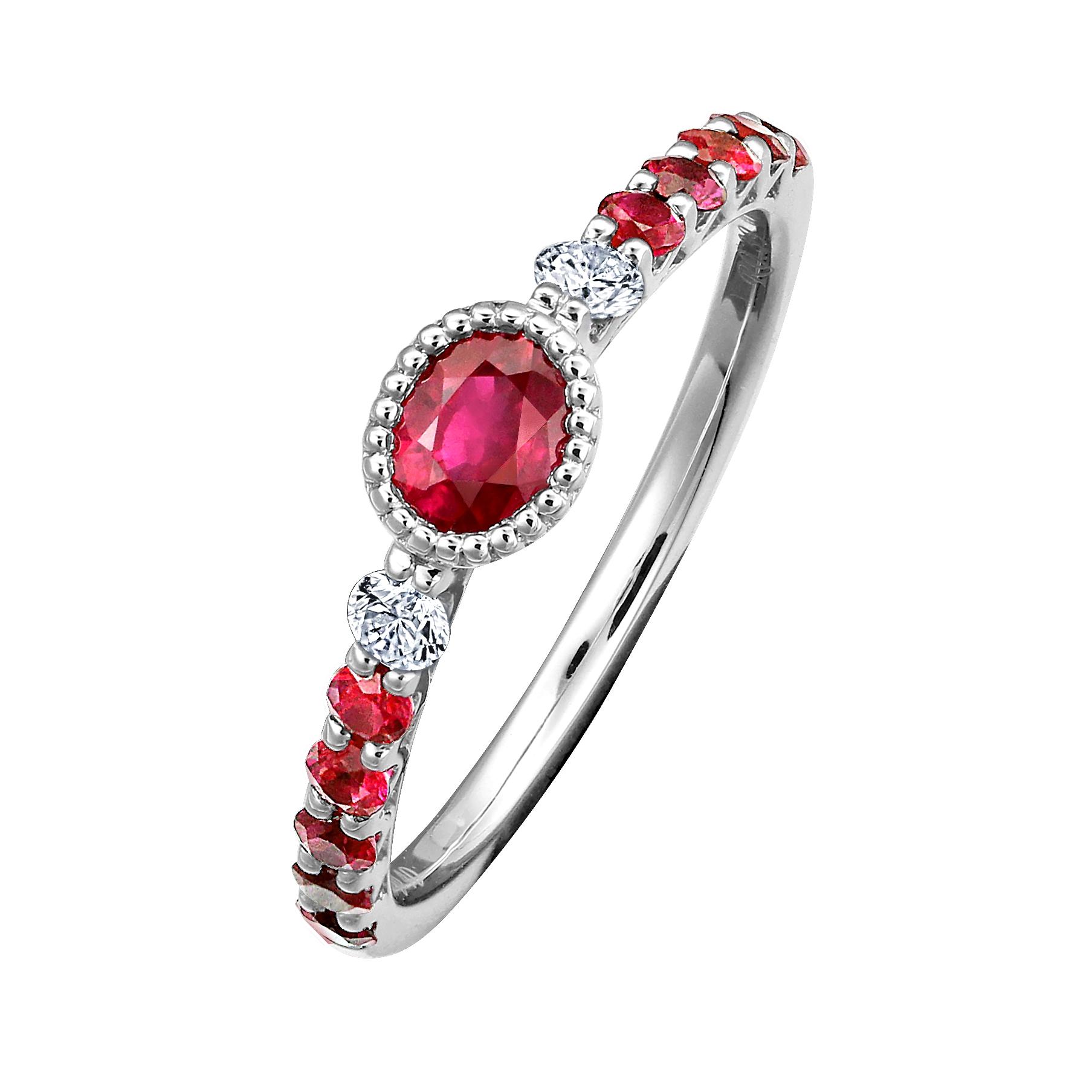 0.39克拉紅寶石戒指