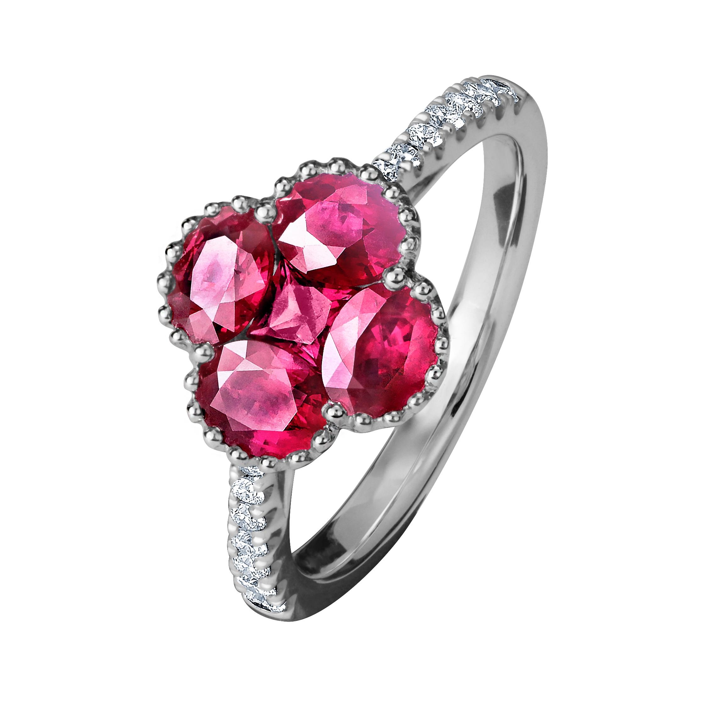 紅寶石造形戒指