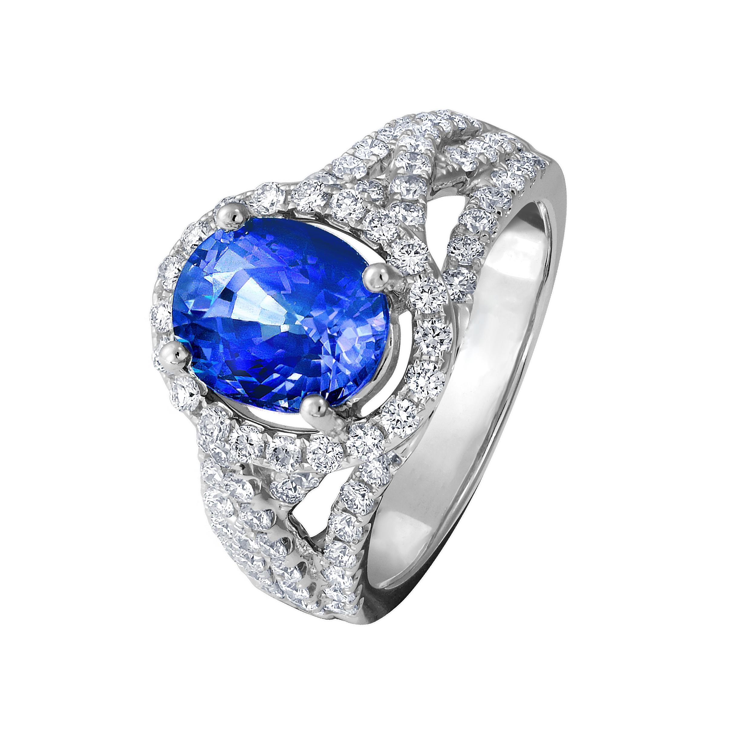 3.13克拉圓型藍寶石戒指